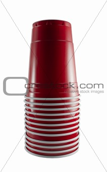 Stack of Red Party Cups
