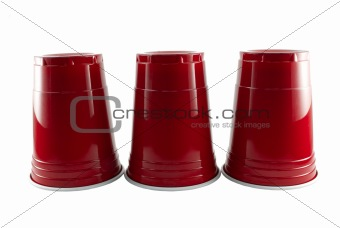 Three Red Party Cups