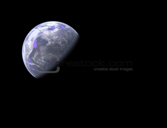 earthlike planet in space