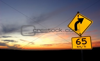 Sunset Road Sign