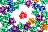 colorful Christmas bow