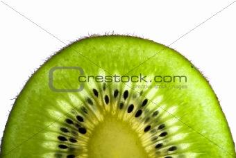 green slice of a kiwi