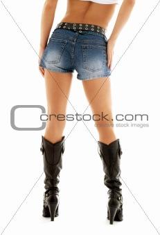 cowboy boots and denim shorts
