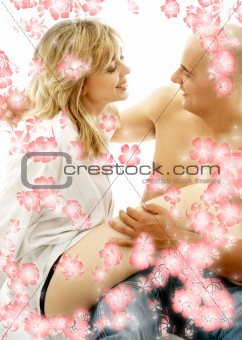 bedroom couple with flowers