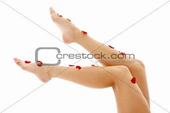 beautiful legs in spa