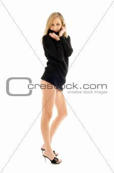 black sweater pin-up