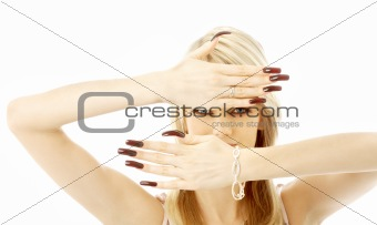 blond with long nails