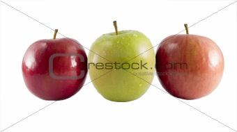 three fresh apples