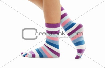 beautiful legs in funny socks