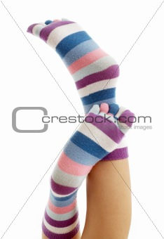 beautiful legs in funny socks #2
