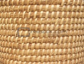 """Backgrounds: Patterns"": Coiled Reed Basket"