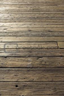 Old worn floor of wood