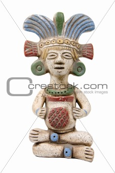 isolated mayan terracotta