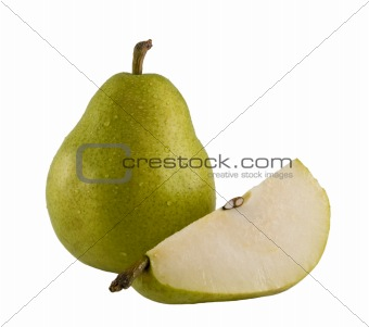 fresh pear wedge