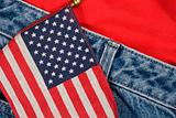 American Flag and Jeans