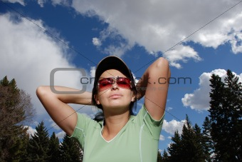 athletic woman portrait