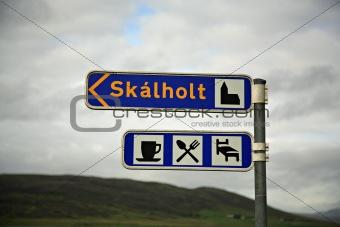 Skalholt signpost