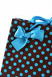 Close-up of a gift bag.
