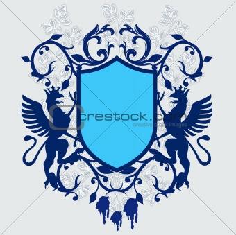 Armory vintage emblem - vector
