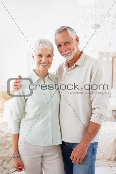Portrait of a romantic senior aged couple