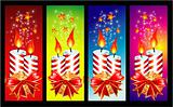 Christmas Candles Banner