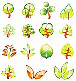 Environment Trees Glossy Icons