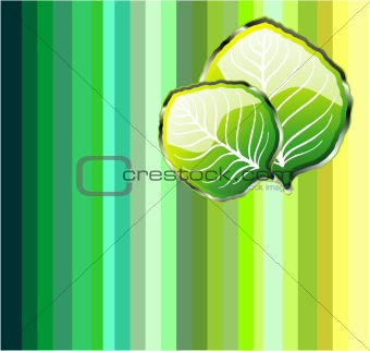 Go Green Leaf Background