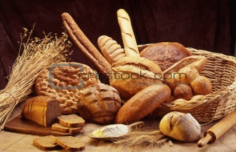 group of different bread