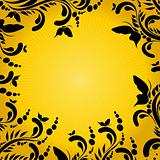 Background with sun and ornament