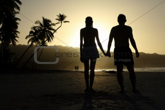 Couple by sunset