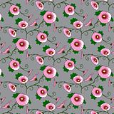 Wallpaper with a pink flowers pattern