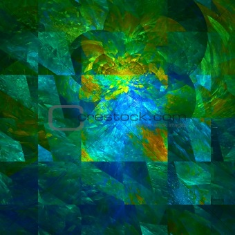 Abstract background. Green - blue palette.