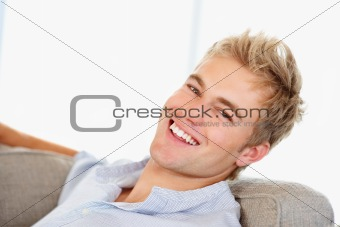 Portrait of a smiling handsome young guy
