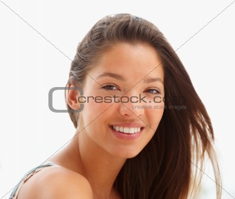 Portrait of a beautiful smiling young lady
