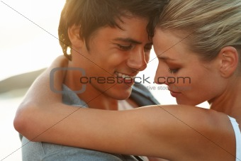 Romantic couple having fun together