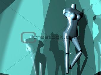 A strange mannequin