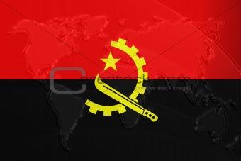 Flag of v metallic map