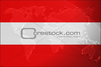 Flag of Austria metallic map