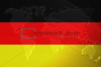 Flag of Germany metallic map