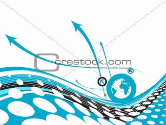 arrow circle globe