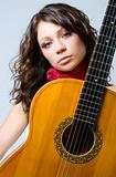Brunette with guitar