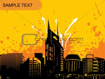 abstract city background, design4