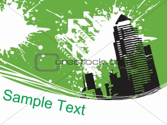abstract city background, design7