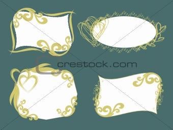 abstract swirl heart design frames