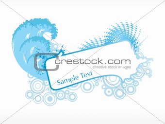 abstract funky vector background for text2