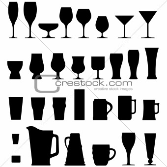 Alcohol cups, glasses, and mugs