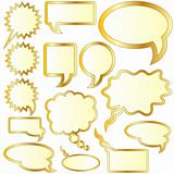 Gold speech or thought bubble stickers