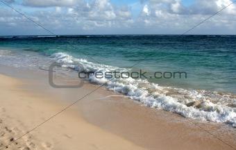 Waves Crashing on the Punta Cana Beach