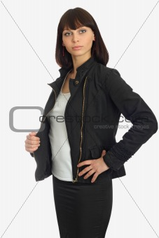 beautiful woman in jacket