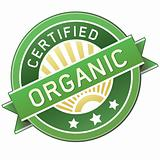 Organic label sticker for food or product
